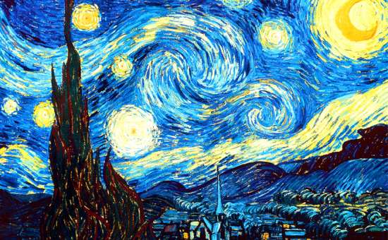 Картина по номерам 40x50  Звёздная ночь.Винсент Ван Гог